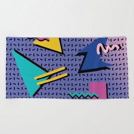 Memphis Pattern 9 - 90s - Retro Beach Towel