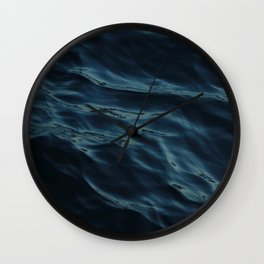 Deep blue waves Wall Clock