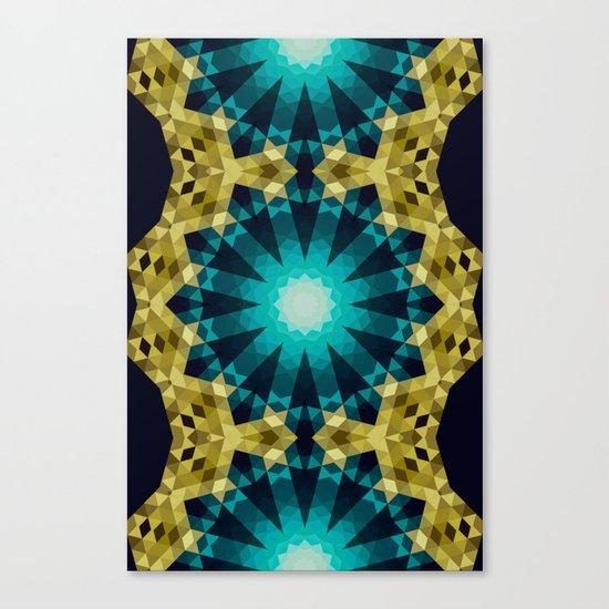 Greenish Blue Shapes Canvas Print
