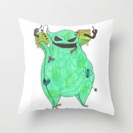 Gambling Oogie Boogie man Throw Pillow