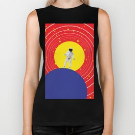 Lone Astronaut on an Atomic Mission - Red Biker Tank