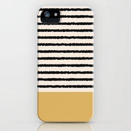 Texture - Black Stripes Gold iPhone Case