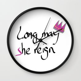 Long may She reign Wall Clock