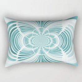 Teal Abstract Design Rectangular Pillow