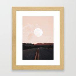 Desert Road Moon Framed Art Print