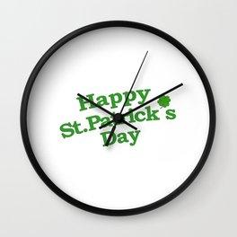 Happy St. Patrick´s Day Typographic Design Wall Clock
