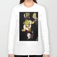 dragonball z Long Sleeve T-shirts featuring Broly Dragonball Z by bernardtime