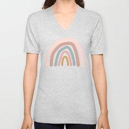 Fun simplistic rainbow art Unisex V-Neck