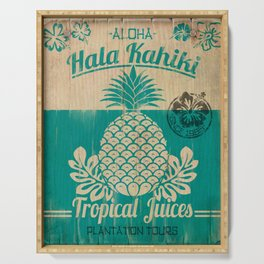 Hala Kahiki Juice Stand wooden board. Serving Tray