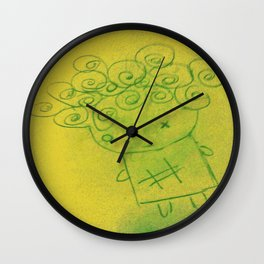 Curly Hair Girl Wall Clock