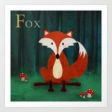 ABC Poster F - Fox Art Print