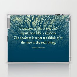 Tree of Character VINTAGE BLUE / Deep thoughts by Abe Lincoln Laptop & iPad Skin