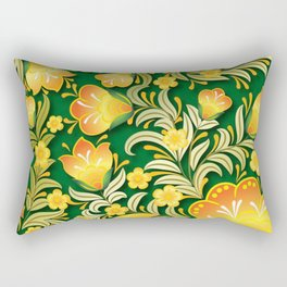 Art Flowers Rectangular Pillow