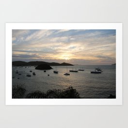 Buzios Sunset Art Print