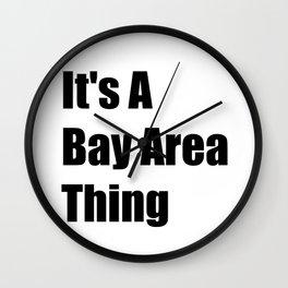 Bay Area California Wall Clock