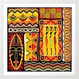 African Ornamental Pattern Art Print