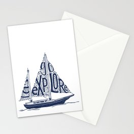 Let's Go Explore Stationery Cards
