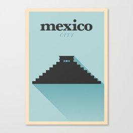 Minimal Mexico Poster Canvas Print