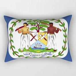 Belize flag emblem Rectangular Pillow