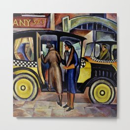 1924 American Masterpiece 'Taxicabs' by Fred Gardner Metal Print