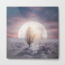 Hypnotized by the Moon Metal Print