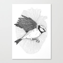 Bluebird In My Heart Canvas Print