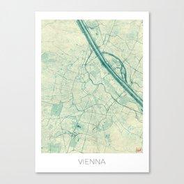 Vienna Map Blue Vintage Canvas Print