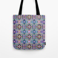 techno Tote Bags featuring Techno Tribal  by Isabella Salamone