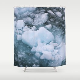 Ice And Snow Abstract Art By Nature Shower Curtain