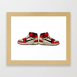 Off White X Jordans Chicago Framed Art Print