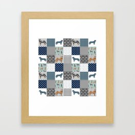 Australian Cattle Dog cheater quilt pattern dog lovers by pet friendly Framed Art Print
