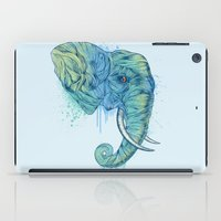 elephant iPad Cases featuring Elephant Portrait by Rachel Caldwell