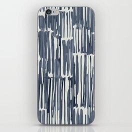 Simply Bamboo Brushstroke Indigo Blue on Lunar Gray iPhone Skin