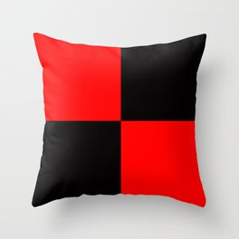 rot schwarz Throw Pillow