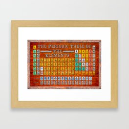 Vintage Industrial Periodic Table Of The Elements Framed Art Print