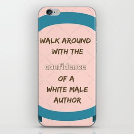 White male author iPhone Skin