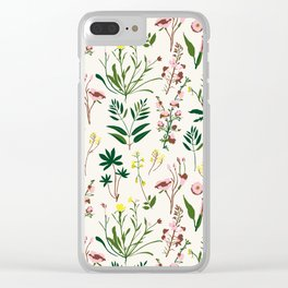 WILDFLOWER STUDY Clear iPhone Case