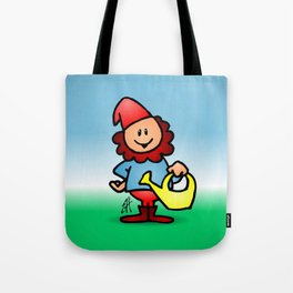 Gnome in the garden Tote Bag