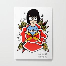 Tina Belcher Tattoo Flash Metal Print