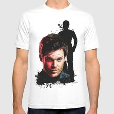 Monster Madness: Dexter Morgan  Mens Fitted Tee White MEDIUM