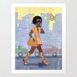 Metro Afro Art Print