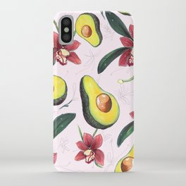 Avocados & Orchids iPhone Case