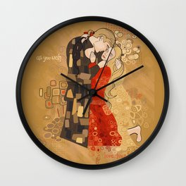 The Invention of the Kiss Wall Clock