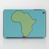ali gulec iPad Cases featuring Ali Hearts Cape Town by Illustrated by Jenny