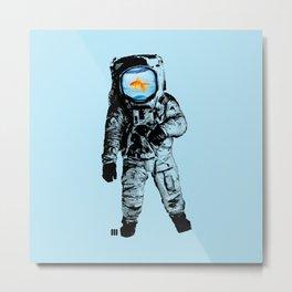Goldfish Astronaut Metal Print