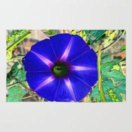 Blue Morning Glory - Inverted Art Rug