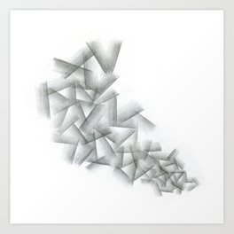 Cubical Abstraction Art Print