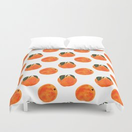 Peach Harvest Duvet Cover