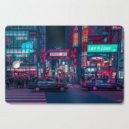 Cyberpunk Tokyo Street Cutting Board