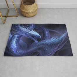 Blue Crystal Dragon Rug